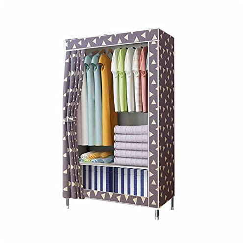 JIAO PAI Armario, Dormitorio Textil Closet Perchas De Armario Portátil Independiente Estantes De Organizador 175 * 90 * 45 Cm(Size:175 * 90 * 45CM)