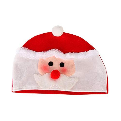 FPXNBONE Gorro de Papá Noel para adultos de felpa cómoda, regalo de Navidad, sombrero de fiesta de Navidad, sombrero de Papá Noel de peluche extra grueso Sombrero de Hombre Viejo