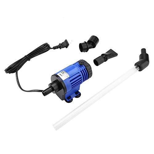 Zerodis 220-240 V Elektrische Wasserpumpe für Aquarium, Wasserwechsel, leistungsstarkes Saugfisch, Fäkel, Reinigungspumpe, abnehmbar mit 2 Düsen für Aquarien