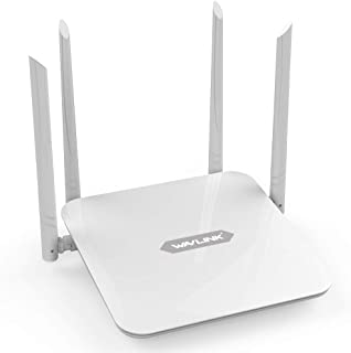 WAVLINK AC1200 Dual Band WiFi Router, Gigabit Ethernet, High Data Transfer Speed, Router/LAN Bridge/Repeater/Guest Modes, ...