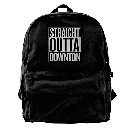 maichengxuan Canvas Backpack Downton Abbey White Rucksack Gym Hiking Laptop Shoulder Bag Daypack for Men Women