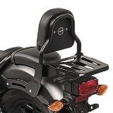 Respaldo XS3 Compatible para Honda Rebel 500 17-21 con Portaequipaje Negro