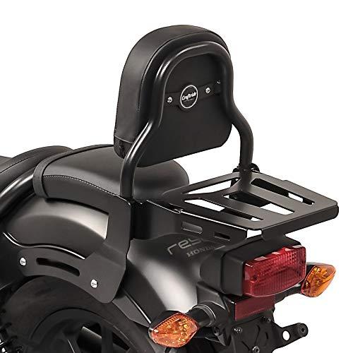 Respaldo XS3 Compatible para Kawasaki Vulcan S/Café 15-20 con Portaequipaje Negro