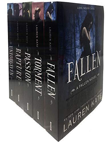 Lauren Kate Fallen Series 5 Books Collection Set (Fallen, Torment, Passion, Rapture, Unforgiven) (Shrinkwrap)