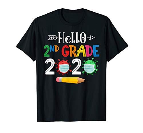 Hello 2nd Second Grade 2020 Back To School Boys Girls Kids T-Shirt