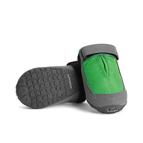 RUFFWEAR, Summit Trex Everyday Dog Boots with Rubber Soles for Walking, Meadow Green, 2.25 in (2 Boots)