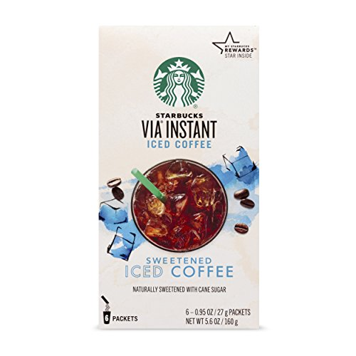 Starbucks VIA Instant Coffee Medium Roast Packets — Sweetened Iced Coffee —...