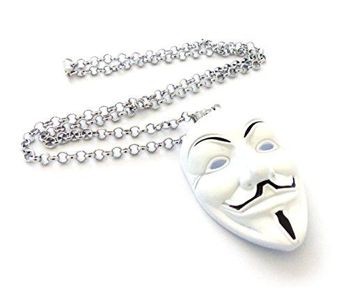 Lucky Joyce Weiß Maske Kette - Anonymous