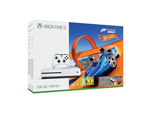 Xbox One S 500GB + Forza Horizon 3 & Hot Wheels (UK Import) - Necessite un adapteur sectetur europe