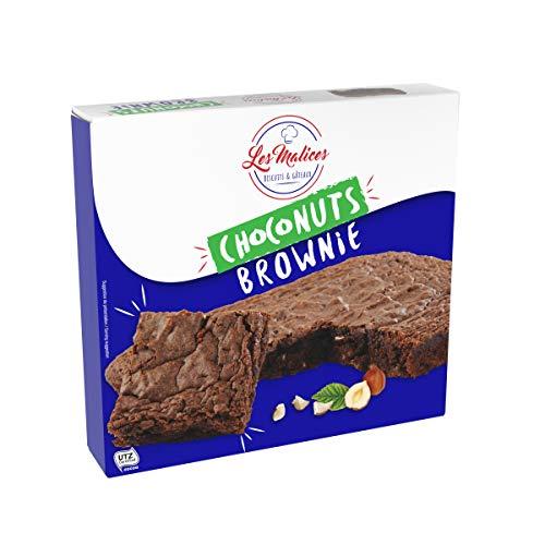 Les Malices - Choconuts Brownie 8 pastelles x 285 gr tamaño de la familia - hecho en Francia