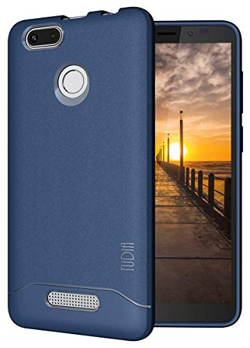 TUDIA Nuu Mobile A5L Case, [Arch] Shock Absorption Drop-Proof Lightweight Scratch Resistant TPU Bumper Protection Cover for Nuu Mobile A5L (Navy Blue)