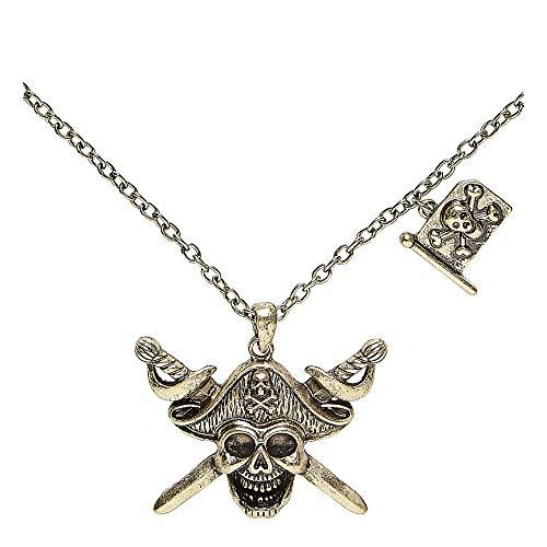Halskette mit Piratentotenkopf