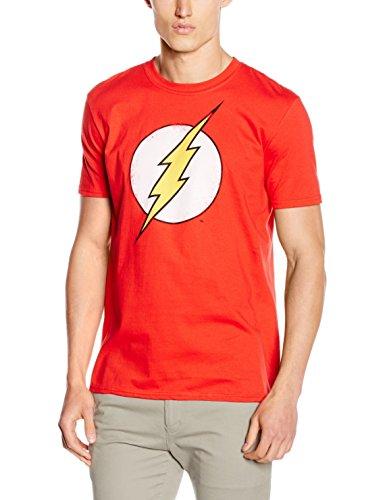 DC Comics Flash Distress Camiseta, Rojo,...