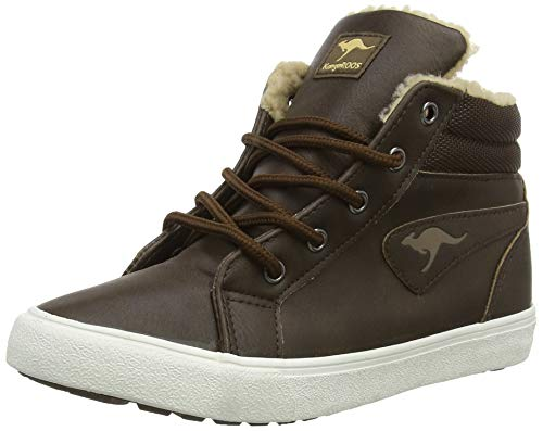 KangaROOS Unisex-Kinder KaVu I High-Top, Braun (dk Brown/sand 343), 34 EU