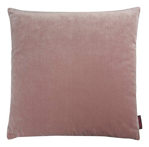 Magma Samt Uni Wendekissen oder Hülle Ton in Ton (Kissenhülle ca. 50x50cm rose)