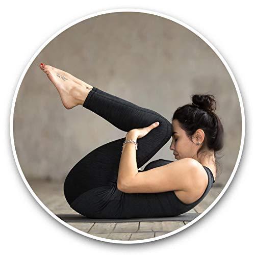 Impresionantes pegatinas de vinilo (juego de 2) 10 cm – calcomanías de yoga Pose Studio Gym Fun Decals para portátiles, tabletas, equipaje, reserva de chatarras, neveras, regalo fresco #46517
