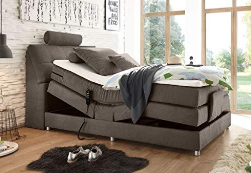 *Froschkönig24 Palermo 120×200 cm Boxspringbett Bett mit Motor Stone*