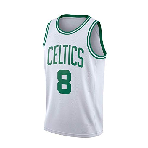 Walker Celtics No. 8 Embroidered Basketball Jersey, Youth Game Time Team, Player Name and Number Jersey T-Shirt-D-XXL