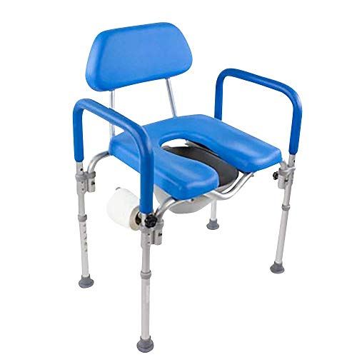 Dignity Ultra-Premium Padded Commode/Shower Chair. Voted #1 Most Comfortable with Padded arms/backrest....