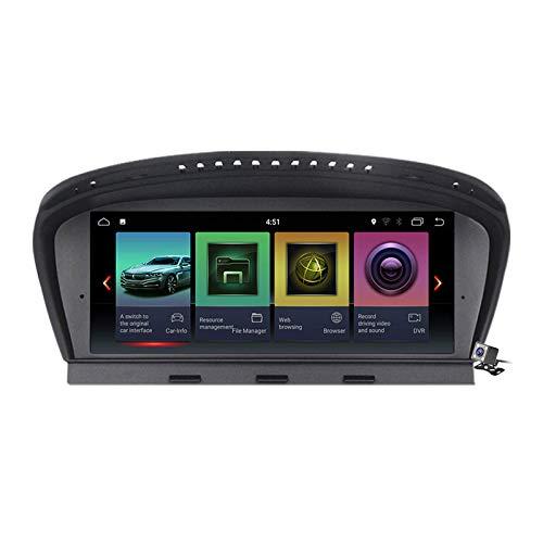 Car Stereo Sat Android 10.0 Radio 2 DIN Head Unit para BMW 3/5 Series E60 E61 E63 E64 E90 E91 E92 2004-2012 Navegación GPS Reproductor Multimedia MP5 de 10.25 Pulgadas Receptor de Video
