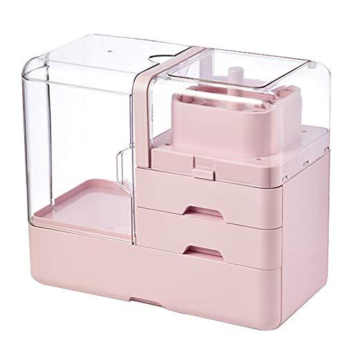 CLLC Cosmetische opbergdoos-stofdichte draagbare opbergdoos, multifunctionele desktop afwerking huidverzorging product opslag rek.