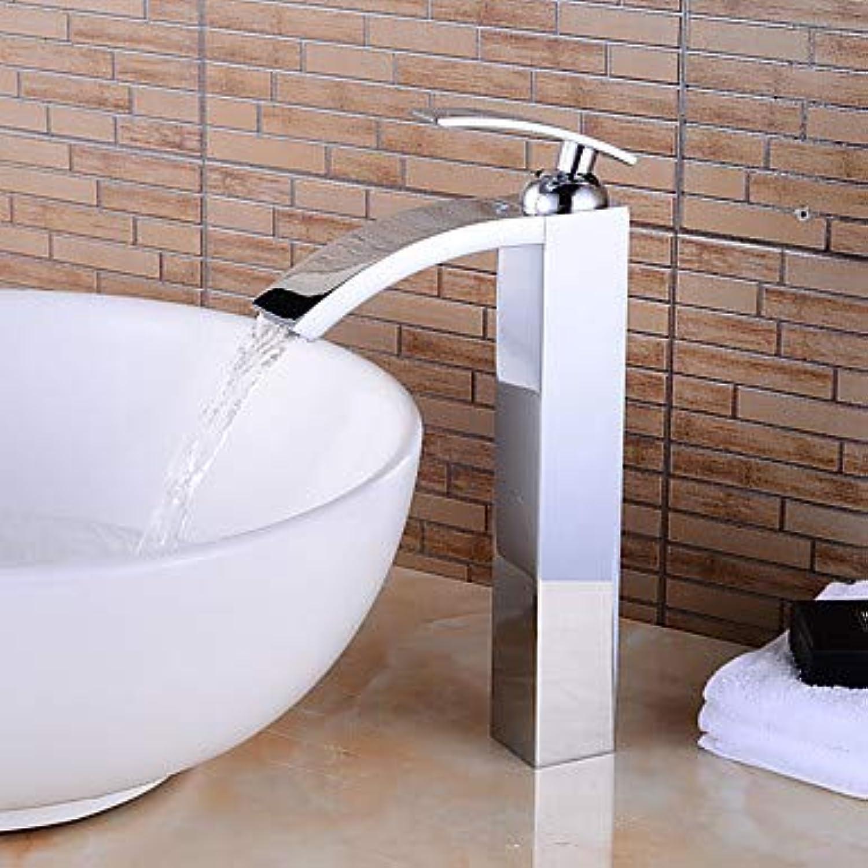 Mangeoo Bathtub Faucet - Pre Rinse Waterfall Widespread Chrome Centerset Single Handle One Holebath Taps