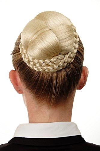 WIG ME UP - Chignon extension tressé peigne blond platine N796-613