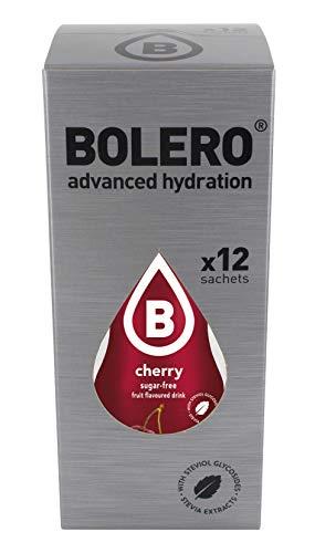 Bolero Bebida Instantánea sin Azúcar, Sabor Cereza - Paquete de 12 x 9 gr - Total: 108 gr