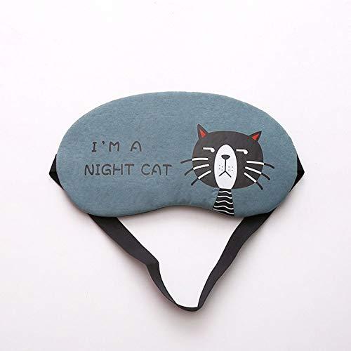 Color caramelo Precioso animal de dibujos animados Máscara de ojos para dormir Suave acolchada Sueño Viaje Sombra Cubierta Relájese Dormir con los ojos vendados