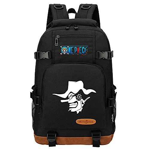 CXWLK Mochila Urban para Hombre Senderismo Trabajo con Bolsillo Backpack Mochila Hombres Mujer Bolso Mochila De Gran Capacidad,One Piece,Black,46cmX29cmX13cm