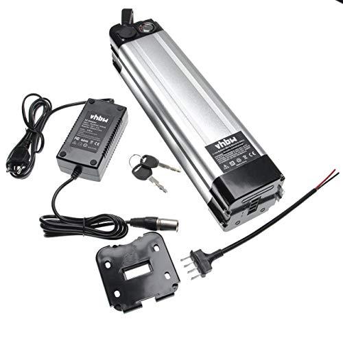 vhbw Batería de Tubo de sillín 8,8Ah 36V Li-Ion Incl. Cargador Compatible...