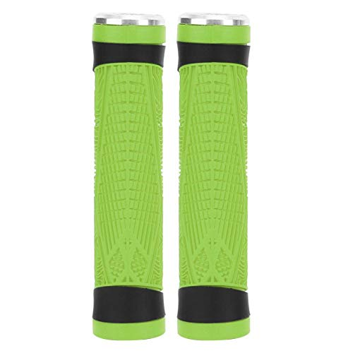 Stable Silicone Handlebar Grip ZTTO Universal Silicone Bike Handlebar Grip,for Mountain Bike,for Cycling(Green)