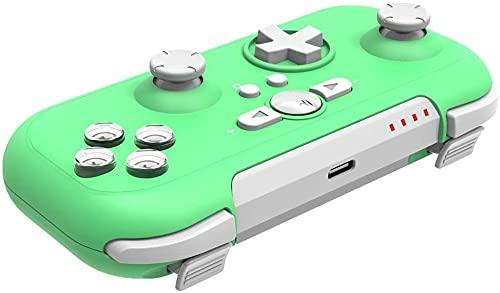 TwiHill Controlador Bluetooth para Nintendo Switch Pro, Mini Controlador Resistente ao Desgaste para Função Turbo de Suporte ao Switch Pro. (Verde)