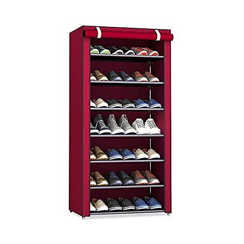 Zapatero de 8 niveles con cubierta a prueba de polvo, Gabinete de almacenamiento de zapatos, Organizador de zapatos con capacidad para 30 pares de zapatos, en la sala de estar, pasillo,59 x 30 x 125cm