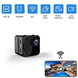 Hidden Camera Wireless Spy Camera WiFi Long Battery Life Mini HD Real-time Remote View Mini Convert Camera with Phone APP Night Vision Motion Sensor Magnetic Security Surveillance Cam for Car Office