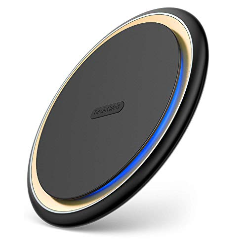 Wireless Charger, Desertwest 15W Qi-Certified Fast Wireless Charger, Wireless Charging Pad Compatible Xs Max/Xs/XR/X /8/8 Plus, Samsung Galaxy S9/S9+/S8/S8+, LG V30+,and More Qi-Enabled