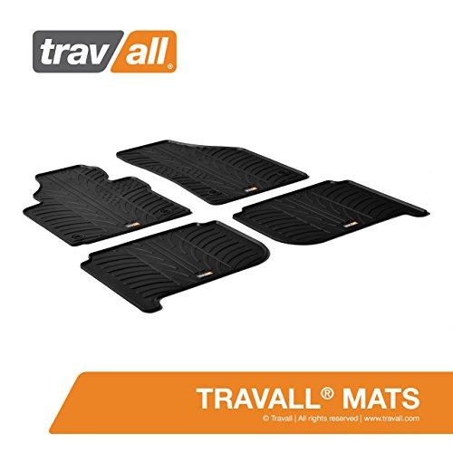 Travall Mats Gummifußmatten Kompatibel Mit Volkswagen Touran (2003-2015) TRM1020 - Allwettermatten Nach Maß Fussmatten Set