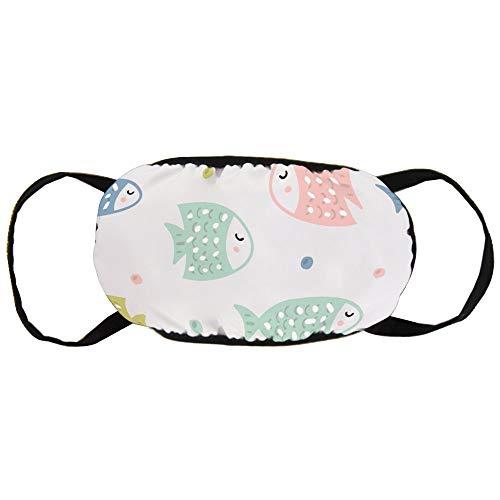 Stofvervuilingsmasker, schattig kleurrijk vis spit bubbels, zwart oor puur katoen masker, Geschikt voor mannen en vrouwen maskers