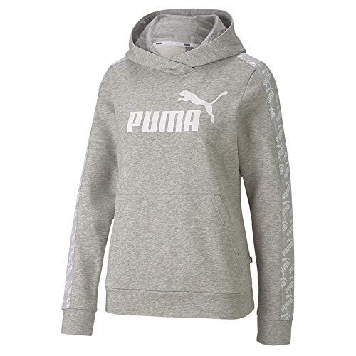 PUMA Amplified Hoody TR Sudadera, Mujer, Light Gray Heather, M