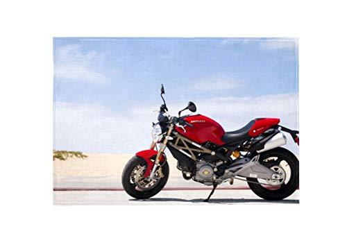 Ducati Monster - Alfombra Antideslizante, Colorida y Duradera, alfombras, Alfombrillas Lavables, Felpudo desempolvado para Dormitorio, Sala de Estar, habitación de los niños 152 x 99 cm
