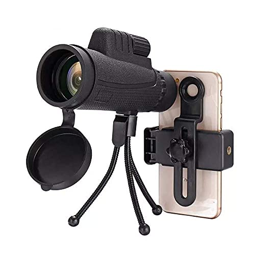 40x60 Zoom de aumento de alta potencia HD Telescopio monocular impermeable para teléfono móvil Telescopio portátil con adaptador de teléfono inteligente Trípode para teléfonos inteligentes Traje de c