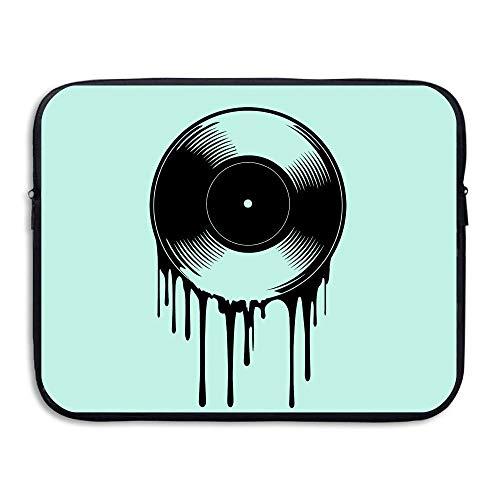 Funny Z Wasserdichte Laptop Hülle Tasche Computer Tasche Musik Vinyl Plattenspieler Mixer Rekord Disc Laptop Hülle Handtasche Abdeckung 13×10 Zoll