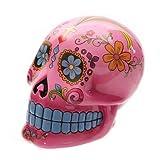 PUCKATOR Grande Candy de Calavera del día de los Muertos Hucha de cerámica