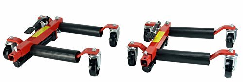 Dragway Tools (2) 12in. Hydraulic Wheel Dolly Vehicle Positioning Jack Lift Hoist with 1500 lb Capacity