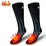 Autocastle Electric Heated Socks Rechargeable Battery Heat Sox Kit for Men Women,Unisex Winter Warm Battery Powered Heating Thermal Stockings,Novelty Sports Outdoor Heated Socks Hunting Foot Warmer