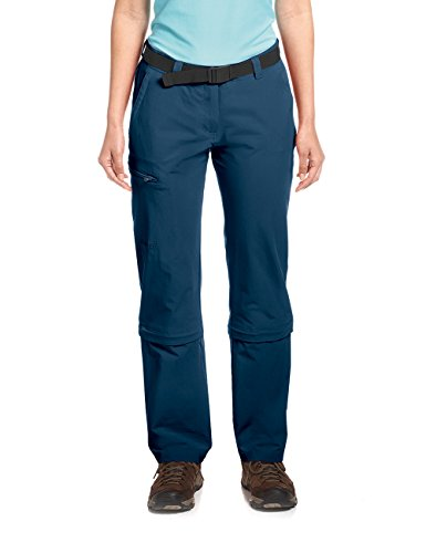 Maier Sports Pantalon Arolla Zip Off pour Femme, Bleu (Aviator), 42