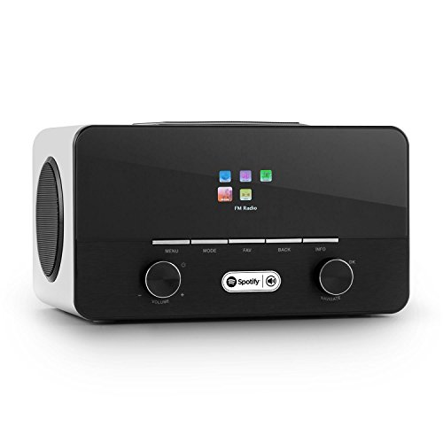 auna Connect 150 WH - 2.1-Internetradio, Digitalradio, WLAN-Radio, LAN, DAB/DAB+ / UKW-Tuner, RDS, Spotify Connect, USB, AUX, weiß