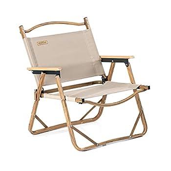 Naturehike Outdoor Furniture Wood Grain Aluminum Portable Folding Camping Chair  Khaki Regular