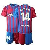 CHTG Kinder New Coutinho No.14 Fußball Trikot Schnell trocknende Sportbekleidung (22)