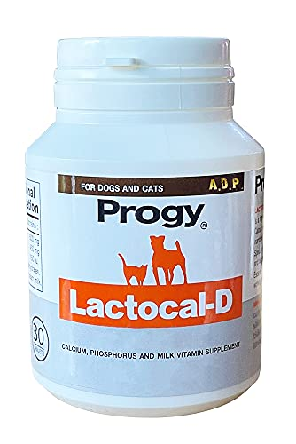 LACTOCAL-D 30 Tablets High Potency Nutritional Pet Multi Vitamins Minerals Supplement Calcium Phosphorus for Dogs Cats Vitamin A D3 C Hip & Joint Immune Vision Support Strong Body Healthy Bones Teeth